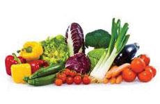 Wein und Gemüse